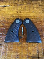 Colt Firearms Factory Official Police / Officers Model Checkered Wood Grips. 238