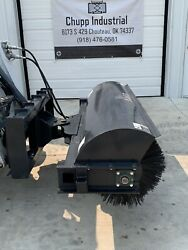 New Jct 72 Skid Steer Hydraulic Angle Rotary Broom Attachment Bobcat Sweepster