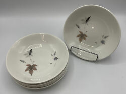 """Royal Doulton Tumbling Leaves 6.8"""" Cereal Bowls Amazingly Excellent •lot Of 6"""