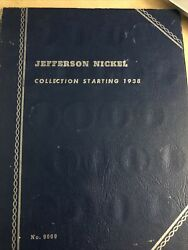 Jefferson Nickel Collection Book Starting 1938 - 51 Coins