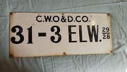 C.w.o. And D.c.o. Porcelain Oil Lease Sign Oilfield Oil Well Sign 10x24
