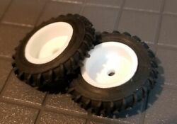 1/64 Standi 13.6-36 Single Tractor Tires And White Rims