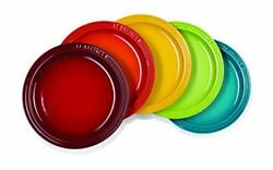 Le Creuset Round Plate 23 Cm, Heat And Cold Resistant 5 Pieces From Japan