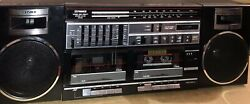 Fisher Ph 463 Black Boombox Fully Functional Check The Video