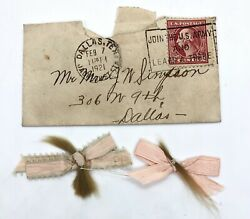 Rare 1921 George Washington Two Cents Stamp And Envelop Plus Real Hair Little Girl