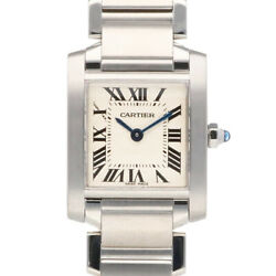 Watches Silver Stainless Steel Tank Francaise Sm From Japan Used