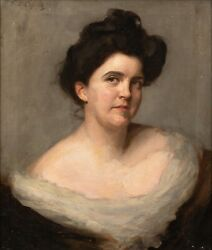 Large 19th Century Portrait Of A Lady By Frank Thomas Copnall 1870-1949