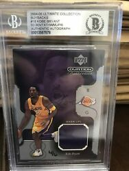 2004 Ud Ultimate Collection Kobe Bryant On Card Auto Buyback Game Used 4/6