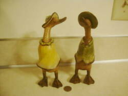 Decorative Pair His Her He She Dressed Dcuks Ducks Coats And Hats Modern Fun