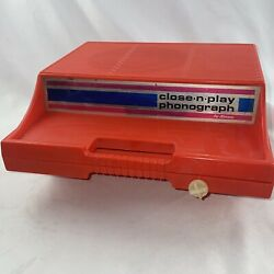Vintage Kenner Close 'n' Play Toy Phonograph Battery Operated For Parts