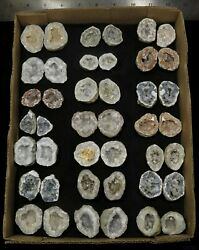Collection Of 21 Varied Small Keokuk Geodes
