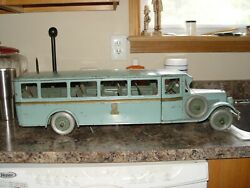 Buddy L Bus Coach Paint Over Original Color On Bottom Of Toy Pressed Steel