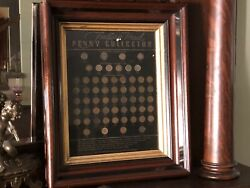 Indian Head Cent Collection 1857 Thur 1909 - Framed Antique Coin Board