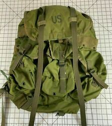 Vintage Vietnam War Lc1 Lc-1 Us Army Military Backpack Alice Field Gear Bag Pack