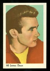 Vintage 60 James Dean Blank Back Picture Card Very Rare Movie Photo 60