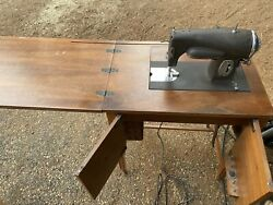 Antique Kenmore Sewing Machine With Cabinet Model E-6354 110 Volt Dc And Ac