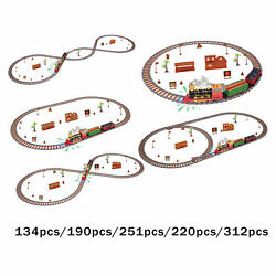 Electric Christmas Musical Train Set Carriage Kids Child Track Toys Gift