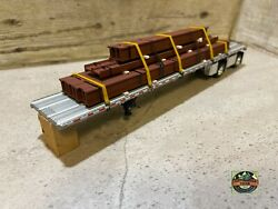 Custom Dcp Spread Axle Flatbed Trailer With I Beams Loads 1/64
