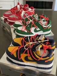 Nike Dunk Low X Off-white Set Of 3