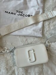 Marc Jacobs Snapshot Small Leather Camera Crossbody Bag White $180.00