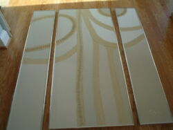Bachman - Matched Set Of Three Original Acrylic Paintings - With Sand Casts