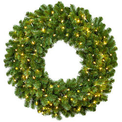 Prelit Led Heavy Duty Outdoor Artificial Christmas Wreaths 2'-4' Sizes