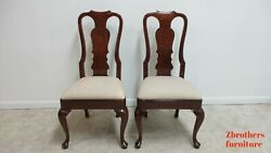 Henredon Salem Dining Room Side Chair Queen Ann Solid English Cherry A