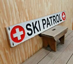 Ski Patrol/carved/rustic Wood Sign/cabin/lodge/snow Skiing/mountains/home/décor