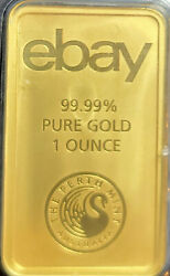 1 Oz. Gold Bar From The Perth Mint In Australia 99.99 Pure Gold