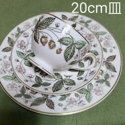 Discontinued Black Vase Wedgwood Strawberry Hill Trio 20.6cm Plate