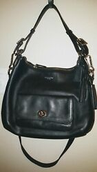 COACH Bag Black LEATHER Legacy COURTENAY Shoulder Crossbody Covertible 22381 $85.00