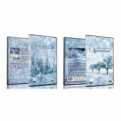2 Disc Set Christmas Dvd Pack - Snowfall With Snow And Winter Wonderland Co…