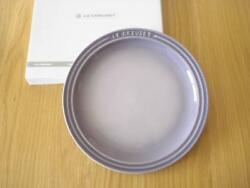New Le Creuset Round Plate 23cm Color Bluebell Purple With Box