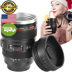 Gpct Camera Lens Coffee Mug With Lid Travel Len Mug Canon Stainless Steel Ther