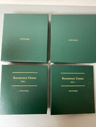 Roosevelt Dime Collection 1946-2016 233 Coins Includes 4 Graded Coins And Binders