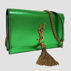 Saint Laurent Shoulder Wallet Coin Purse Card Holder Women With Box Used
