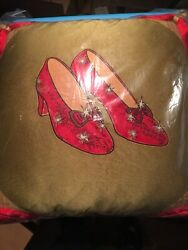 Wizard Of Oz Ruby Slippers Satin Pillow Warner Store Exc 1997 Retired Le Rare
