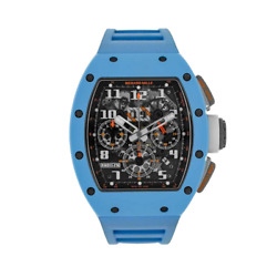 Richard Mille Rm011-fm Baby Blue Ceramic Last Edition Menand039s Watch