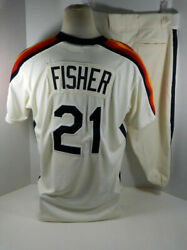 Majestic 46 Xl Derek Fisher Houston Astros Game Used Tbtc Jersey And Pants