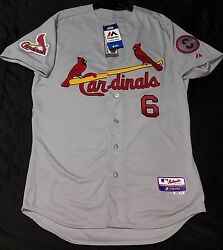 Authentic Majestic Sz 44 Large, St Louis Cardinals Stan Musial Cool Base Jersey