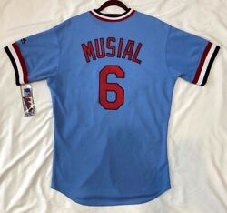 Authentic Majestic 44 Large, St Louis Cardinals Stan Musial Tbtc On Field Jersey