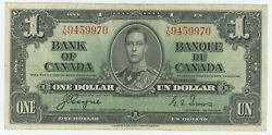 1937 Bank Of Canada 1 Bank Note - Fine/vf - Coyne Towers T/n 9459970 - Ck31