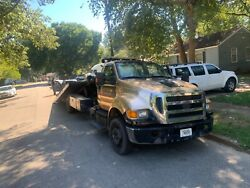 2011 Ford F-650 Flatbed Rollback Tow Truck 6.7l Low Miles