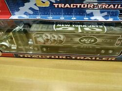 New York Jets Diecast Tractor Trailer Upper Deck 180 Scale Nfl Collectible New