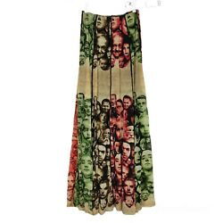 Jean Paul Gaultier Womens Maille Femme Skirt Iconic Faces Mesh Maxi Vintage Rare
