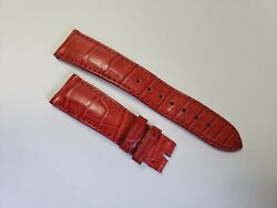 Lonestar Watches Red Alligator Leather Strap 19mm Made In Usa