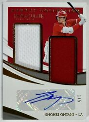 First No. Limited To 1/5 Sheets Shohei Otani Autograph Real Use Jersey 2021
