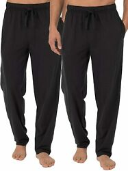 Fruit Of The Loom Menand039s Extended Sizes Jersey Knit Sleep Pant 1 And 2 Packs
