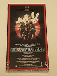 Ghostbusters 2 Vhs Factory Sealed 1989 First Print Rca Columbia Vtg White Stamp