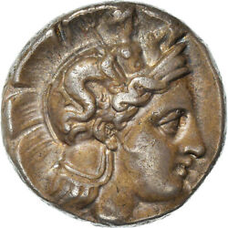 [970869] Coin Lucania Velia Stater 400-350 Bc Au55-58 Silver Sng